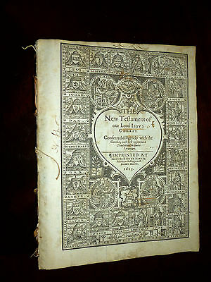 1613 King James Bible-The Genealogies of Christ-w/ map of Canaan-Complete!!
