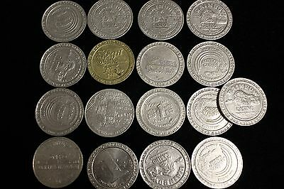 17 Casino One Dollar Gaming Tokens-Coins, 7-Different Casinos, Wisconsin, Vegas