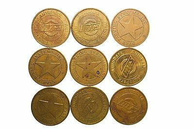 Parking Tokens ~ 9 Star Parking Systems Tokens