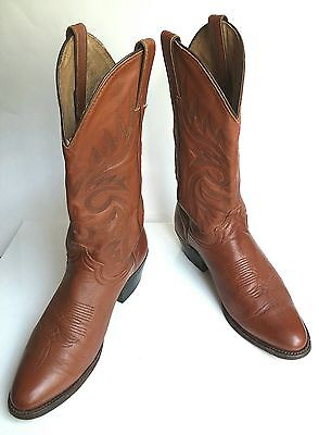 Abilene Boots Men's Leather Cowboy Boots Brown Western Pull On Size 8 D