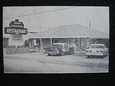 1940's Advertising Mileage Travel Card Hiers Drive In Restaurant Walterboro, SC