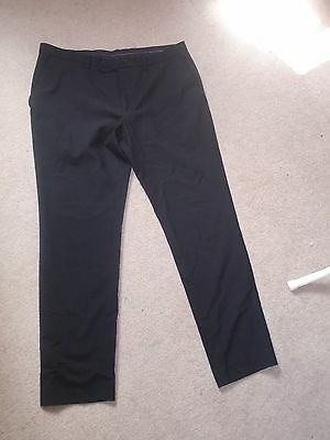 Mens Next black trousers 34s (skinny fit)