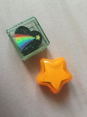 Vintage Erasers In Cases A Heart And A Star.