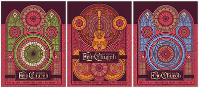 Eric Church May 26 & 27 Nashville concert posters FULL SET of Three!