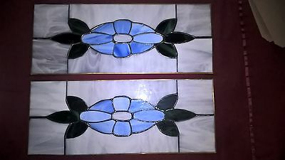 2 Vintage Leaded Stained Glass Windows *SALE * Shipping Included