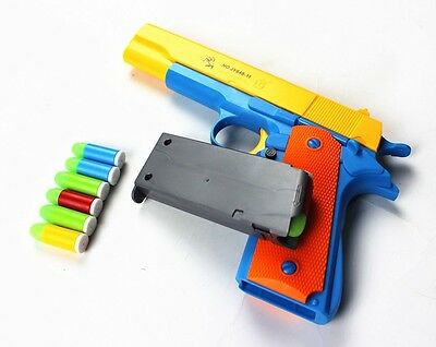 Nerf Toy Gun Toy Pistol Classic m1911 Kids Colorful Darts With Soft Bullets New