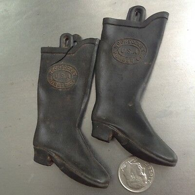 Advertising Salesman's Sample Woonsocket RI Rubber Co Advertising Boots