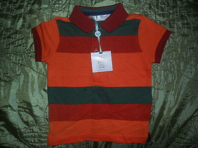 M&Co New With Tags Boys  T-Shirt Polo Stripes 6-9 Months