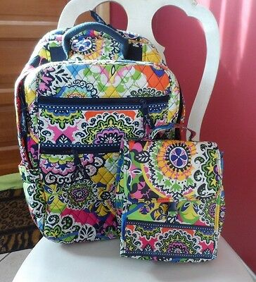 Vera Bradley tech backpack  and lunch sack in Rio pattern