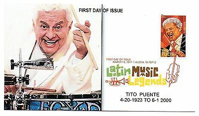 4497, 2011 stamp,Tito Puente,Latin Music Legends,Color Cancel by ROMP cachets