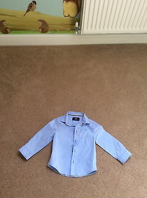 Boys Mini Rebel Blue Shirt Size 18-24 Months New Without Tags
