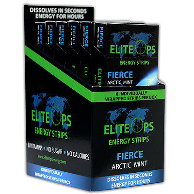Elite Ops Energy Strips (48 Ct-Arctic Mint) Same Formula As Sheets Energy Strips