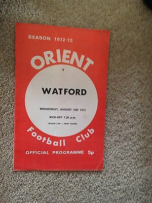 Leyton Orient V Watford 16 August 1972 league cup 1st Round