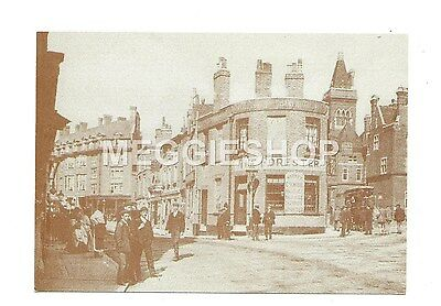 LONDON/KENT: BROMLEY: MARKET SQUARE c1900 FORESTER PUB  REPRO POSTCARD
