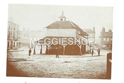 LONDON/KENT: BROMLEY: MARKET HOUSE MARKET SQUARE c1860  REPRO POSTCARD