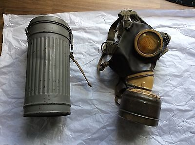 ww2 german Naval tropical m38 g&s mask and canister