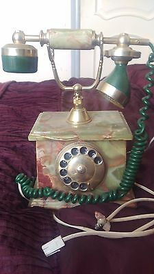 Marble retro telephone and stand