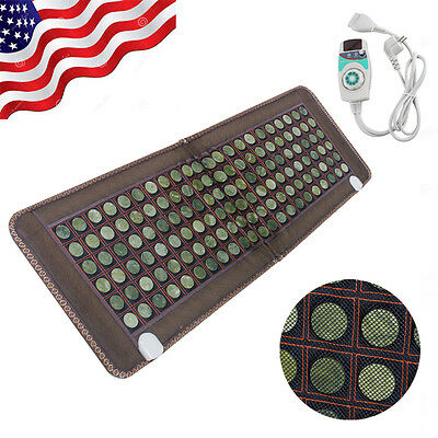 Jade and Tourmaline Stone  Far-infrared Heat Therapy Healing Mat/Pad  50X150 CM