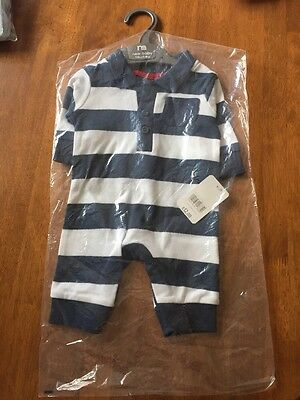 Mothercare New Baby Boy Play Suit BNWT