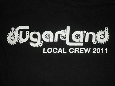 2011 Sugarland Incredible Machine Tour Local Crew Shirt, size XL