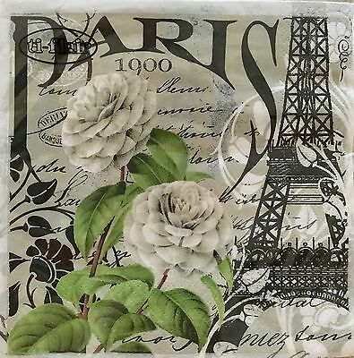 4 Pc Ti-Flair Paris 1900 Paper Napkins Made In Germany