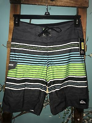 NWT Quicksilver Boys Board Shorts Swim Trunks SZ 4 FREE SHIP NEW NICE