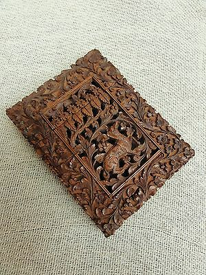 A Carved Anglo Indian Sandalwood Cardcase