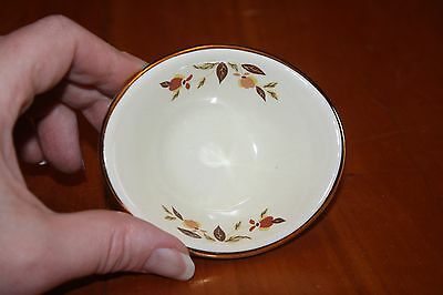 """Autumn Leaf NALCC 2005 3.5"""" Open Individual Jelly Dish Hall China Excellent"""