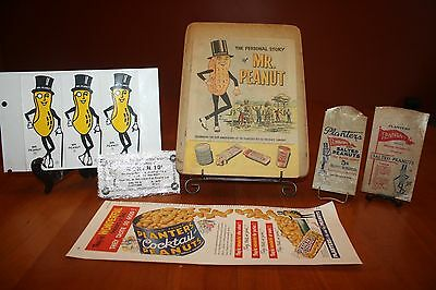 Vintage Mr. Peanut Advertising Lot Stickers Waxed Bags Personal Story 10¢ Coupon