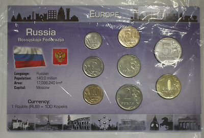 Russia Federation 100 Kopeks - 1 Rouble Coin Set Uncirculated