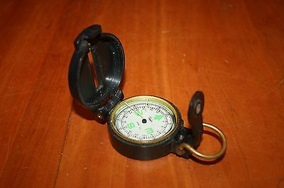 Vintage Taylor Engineer Lensatic Directional Compass Liquid Filled GUC