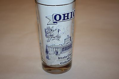 Vintage Souvenir Glass Featuring State Capitol at Columbus Ohio and Other Places