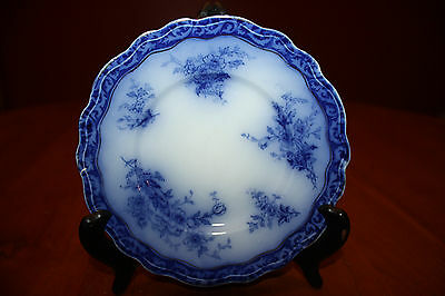 """Vintage Blue Transfer Ware Henry Alcock Ouraine 329815 Scalloped 6.5"""""""
