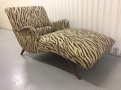 60's Mid Century Vintage Danish Adrian Pearsall Era Chaise Lounge Chair