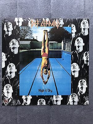 Def Leppard High 'n' Dry RARE promo 12 x 12 poster flat '81