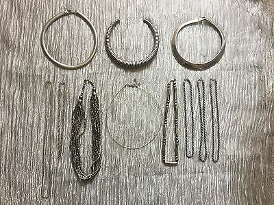 Silver Tone Vintage Job Lot of Necklaces Jewellery.