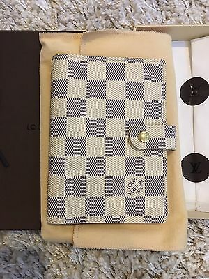 Louis Vuitton Small Ring Agenda Damier Azur Canvas