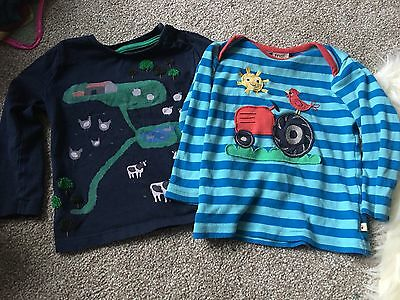 Mini Boden And Frugi Farm Theme Long Sleeve Tops Age 12-18 18-24 Months Baby Boy