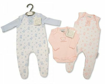BNWT Baby reborn Premature Preemie Baby Boy or Girl Clothes 2 Piece dungaree Set