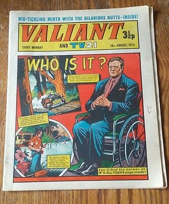 Valiant and TV21 comic 18 August  1973