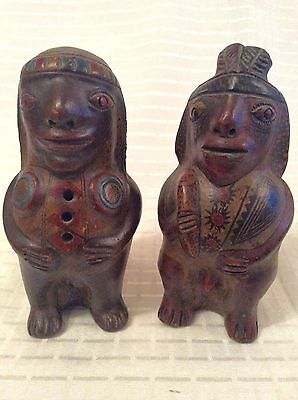 Antique South American Clay/pottery Fertility Figures ~ Mexican ~ Aztec ~ Inca