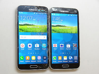 Lot of 2 Samsung Galaxy S5 SM-G900T1 MetroPCS Smartphones Good LCD AS-IS GSM *
