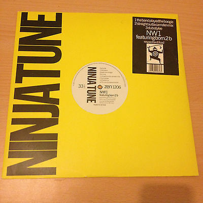 """NW1 Feat Born 2 B - The Band Played The Boogie 12"""" Vinyl Single- ninja tune 1991"""