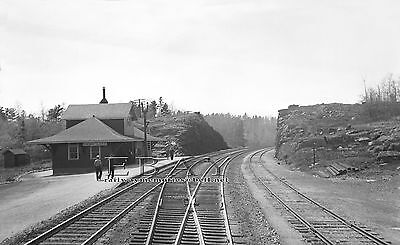 """CPR's station Hawk Lake, Ont in 1944  High Quality B&W 8"""" x 10"""" print"""