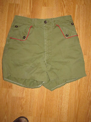 BSA Vintage Olive Green Uniform Shorts Small (No size tag)  See Measurements