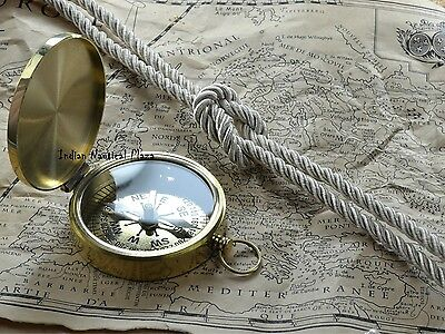 Vintage Maritime West London  Brass Sundial Compass Nautical Decor Travel Gift