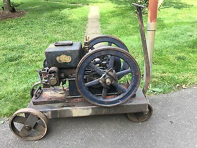 Antique Empire Hit & Miss 2 1/2 hp. Gas Engine- One Lunger All Original Paint