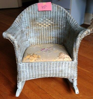 Antique Child's Wicker Rocking Chair Kid's Rocker LOCAL PICK UP ONLY