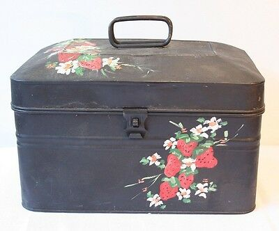 Vtg. Coal Miner Metal Lunchbox Pail marked CHAMPION Mining paint decorated tin