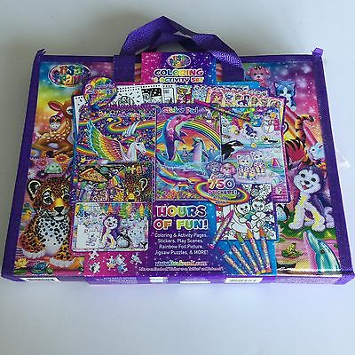 NEW Lisa Frank Coloring and Activity Set with Fold Out Storage Case 750 stickers